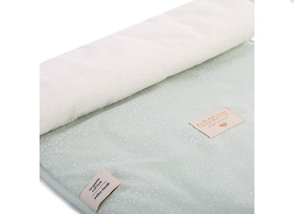 Nobodinoz Nomad Changing Pad in White Bubble / Aqua - Scandibørn