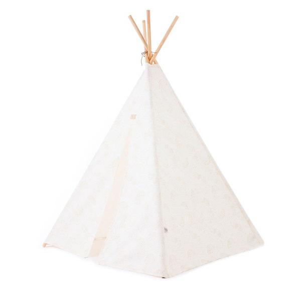 Nobodinoz Phoenix Teepee in Gold Bubble / White - Scandibørn