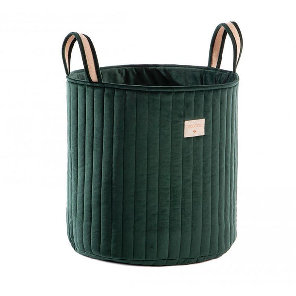 Nobodinoz Savannah Velvet Toy Bag in Jungle Green - Scandibørn