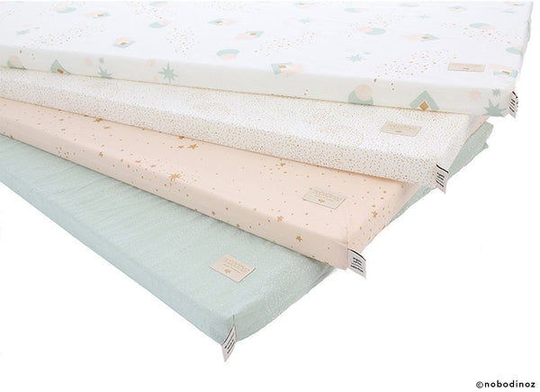 Nobodinoz St Barth Mattress in Aqua Eclipse / White - Scandibørn