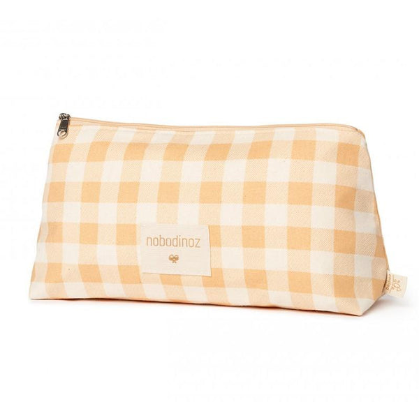Nobodinoz Sunshine Pencil Case in Melon Vichy - Scandibørn