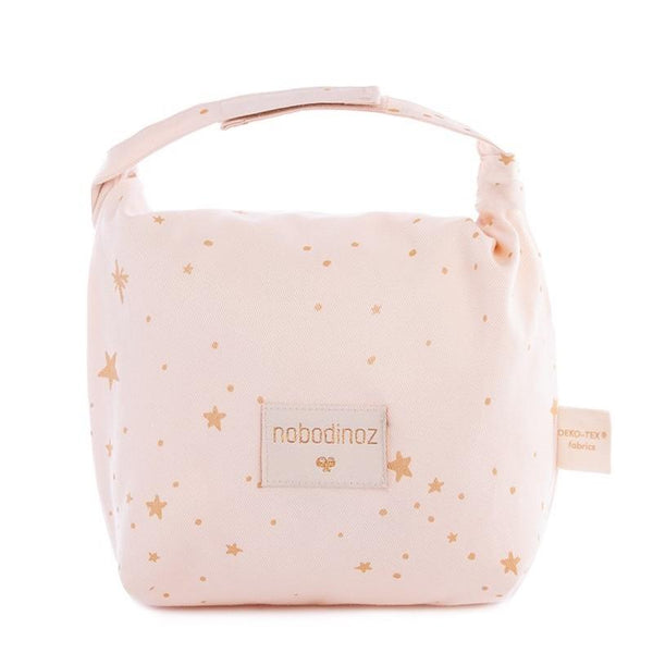 Nobodinoz Too Cool Eco Lunch Bag in Gold Stella / Dream Pink - Scandibørn