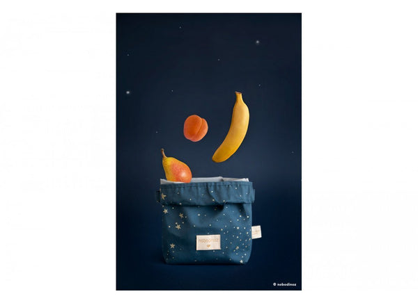 Nobodinoz Too Cool Eco Lunch Bag in Gold Stella / Night Blue - Scandibørn