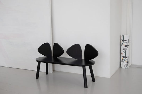 Nofred Mouse bench in Black - Scandibørn