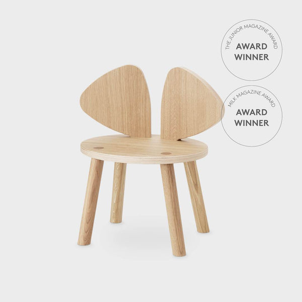 Nofred Mouse chair in oak (2-5 years) - Scandibørn