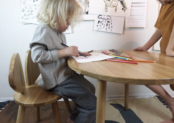 Nofred Mouse School Table in Lacquered oak (6-10 Years) - Scandibørn