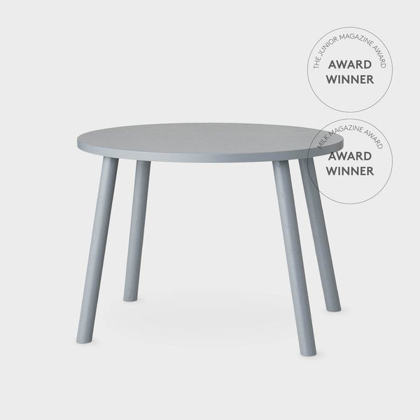 Nofred Mouse table in Grey (2-5 years) - Scandibørn