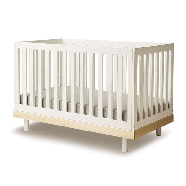 Oeuf NYC - Classic Cot Bed in White and Birch - Scandibørn