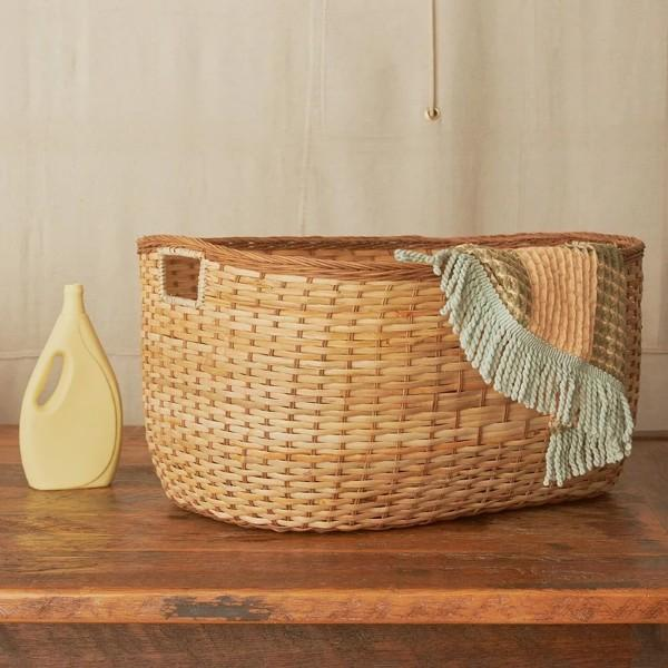 Olli Ella - Tuscan Rattan Laundry Basket in Large - Scandibørn