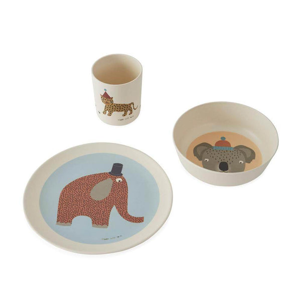 OYOY Bamboo Tableware Set - Hathi Safari - Scandibørn