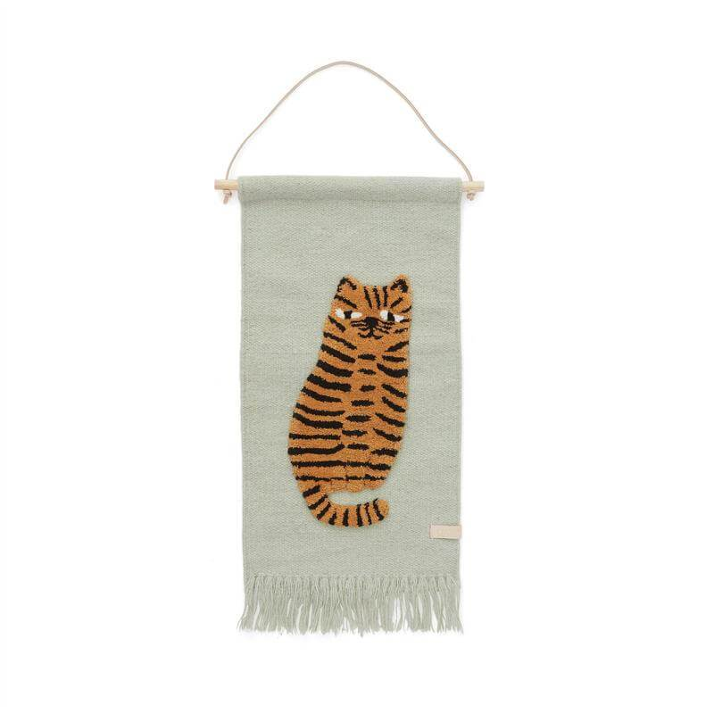 OYOY Wallhanger - Tiger - Green - One Size One Size