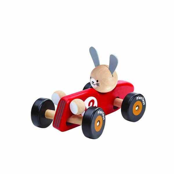 Plan Toys Bunny Racer Red - Scandibørn
