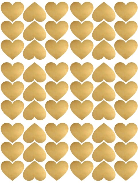 Pom Le Bon Homme Heart wall transfers in gold - Scandibørn