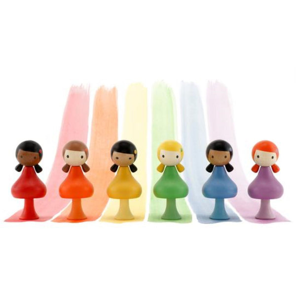 Clicques - Rainbow Girls Wooden Figurines