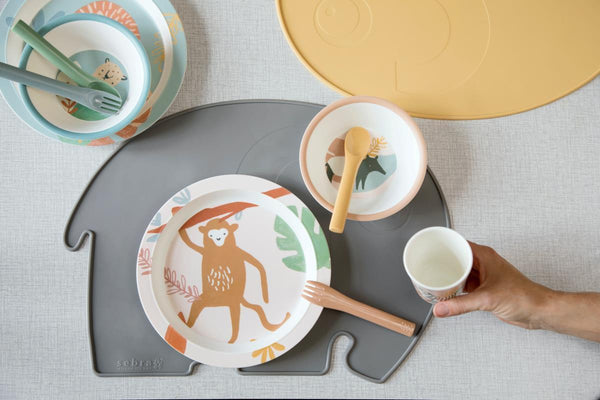 Sebra 5pc Tableware Gift Set - Wildlife Eucalyptus - Scandibørn