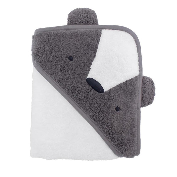 Sebra Baby Hooded Towel - Milo Bear - Scandibørn