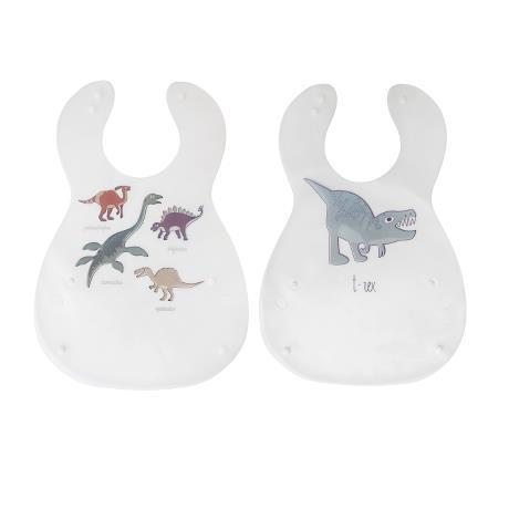 Sebra Bib set 2pc - Dino - Scandibørn