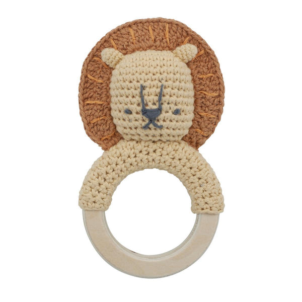 Sebra Crochet Rattle Lee the Lion - Scandibørn