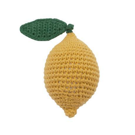 Sebra crochet rattle Lemon - Scandibørn