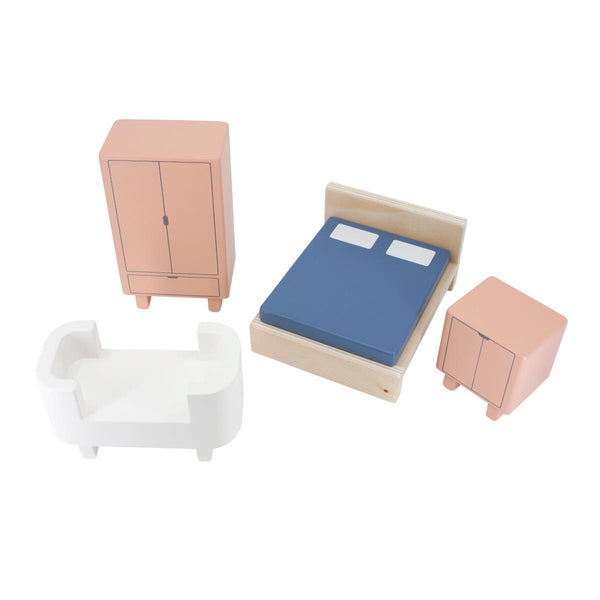 Sebra Dolls House Furniture - Bedroom - Scandibørn