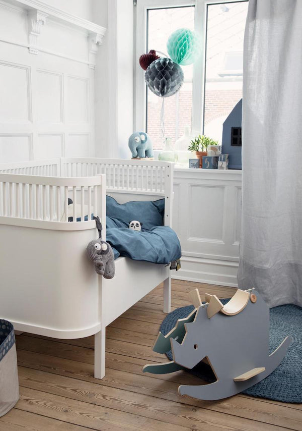 Sebra Juno Cot Bed in White - Scandibørn