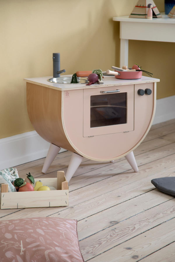 Sebra Play Kitchen in Sunset Pink - Scandibørn