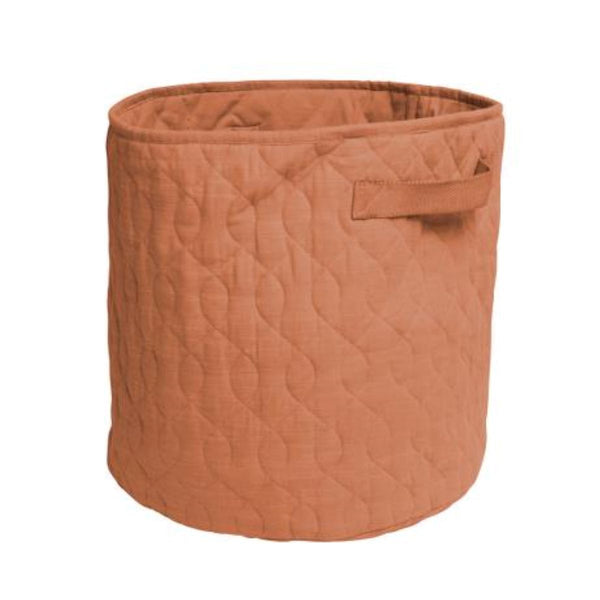 Sebra Quilted Basket in Sweet Tea Brown (48L) - Scandibørn