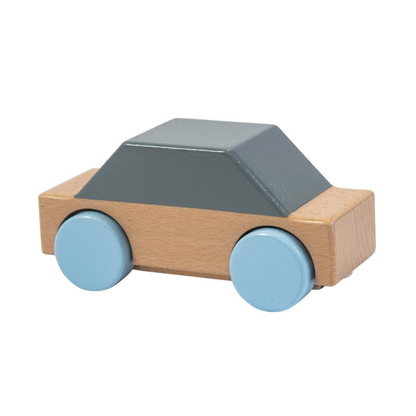 Sebra Wooden toy car in grey - Scandibørn