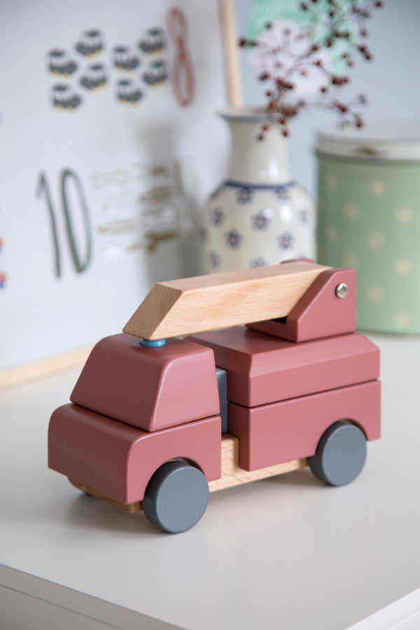 Sebra Wooden Toy Fire Truck - Scandibørn