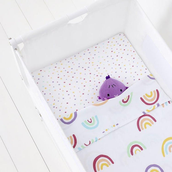 Snüz Crib 2 Pack Fitted Sheets in Colour Rainbow - Scandibørn