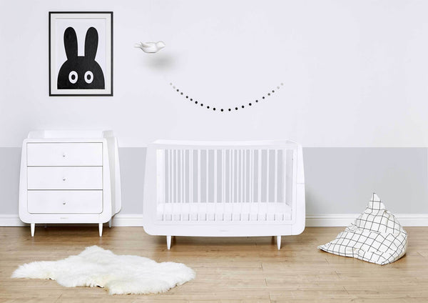 Snuzkot Changing Table White - Scandibørn