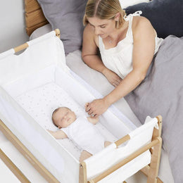 SnuzPod 4 - Bedside Crib 3 in 1 in Natural (with mattress) - Scandibørn