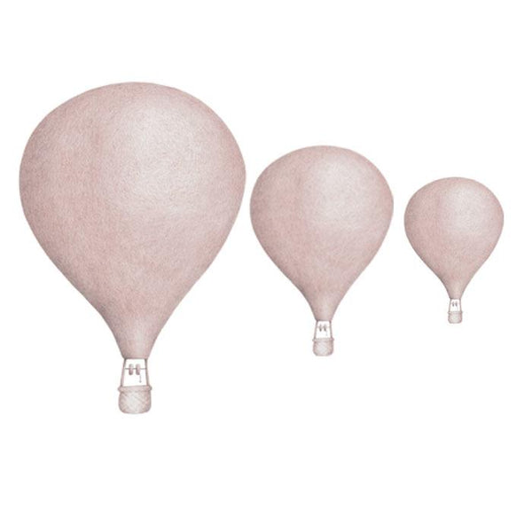 Stickstay Three Balloons wall transfer in Dusty Pink - Scandibørn