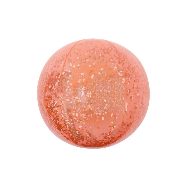 Sunny Life 3D Beach Ball in Glitter Coral - Scandibørn