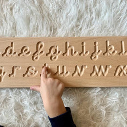 The Little Coach House Wooden Cursive Alphabet Tracing Board - Scandibørn