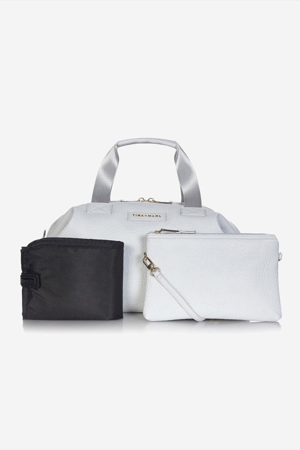 Tiba and Marl RAF Holdall in Grey Leather - Scandibørn
