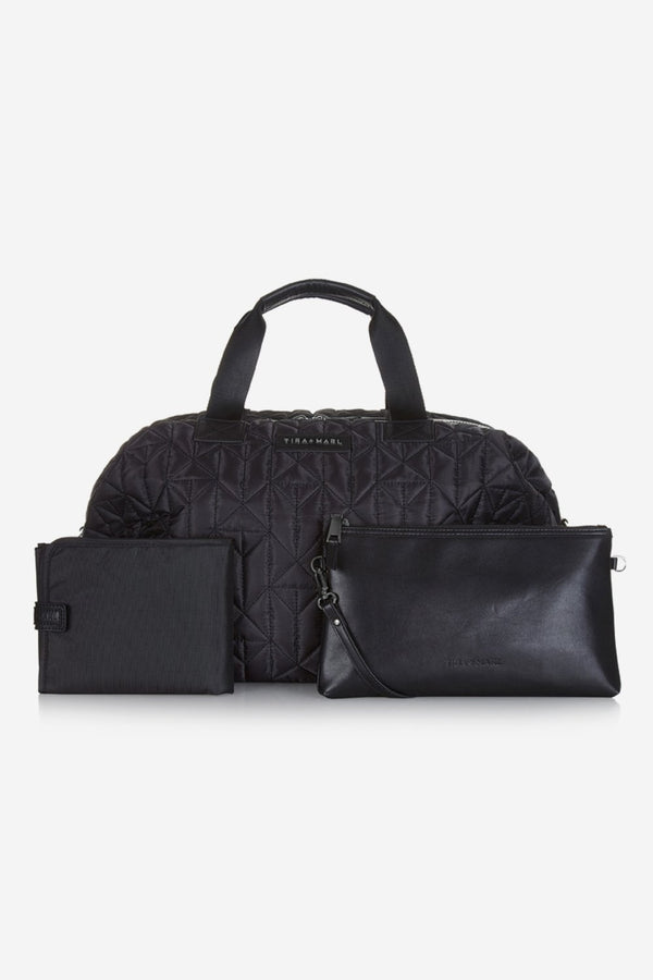 Tiba and Marl Raf Weekender holdall in Black / Gun - Scandibørn
