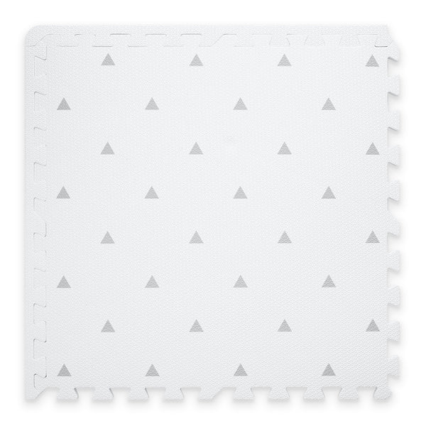 Triangle Playmat Set In White - Scandibørn
