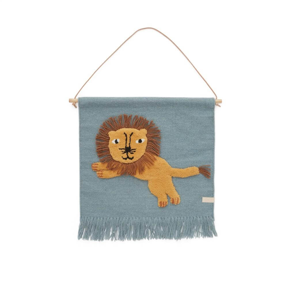 Wallhanger - Jumping Lion - Tourmaline - One Size One Size