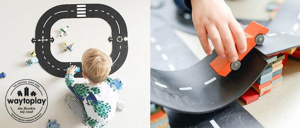 WayToPlay Car Track Expressway playset - 16 Pieces - Scandibørn