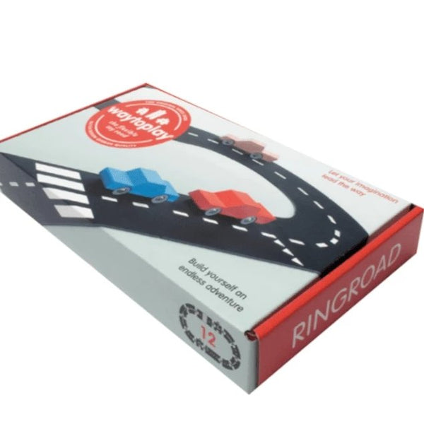 WayToPlay Car Track Ringroad playset - 12 Pieces - Scandibørn