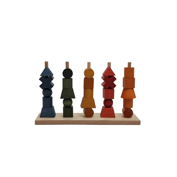 Wooden Story Rainbow Stacking Toy - Scandibørn