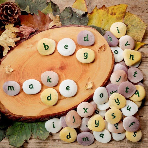 alphabet letter pebbles for early year learning literacy