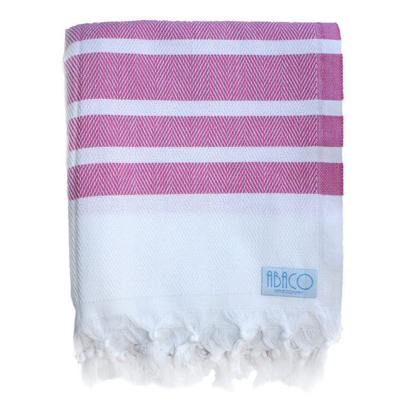 Pink Stripe - Beach Blanket
