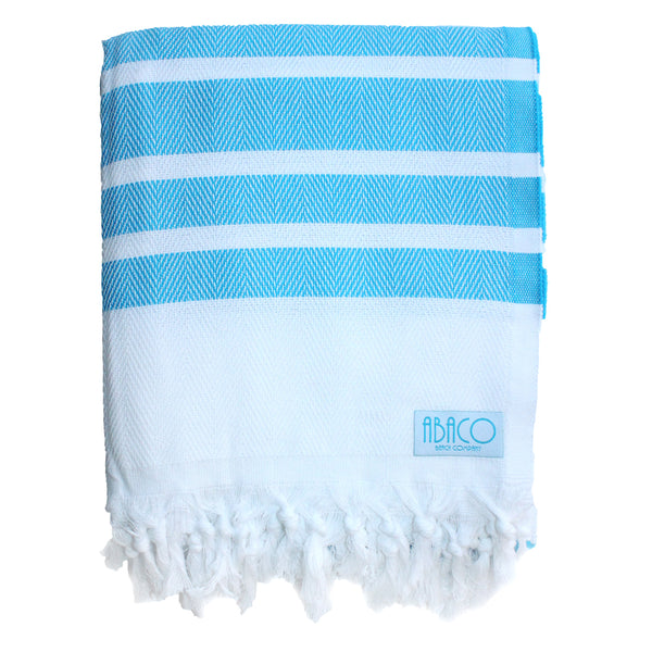 Sky Blue Stripe - Beach Blanket