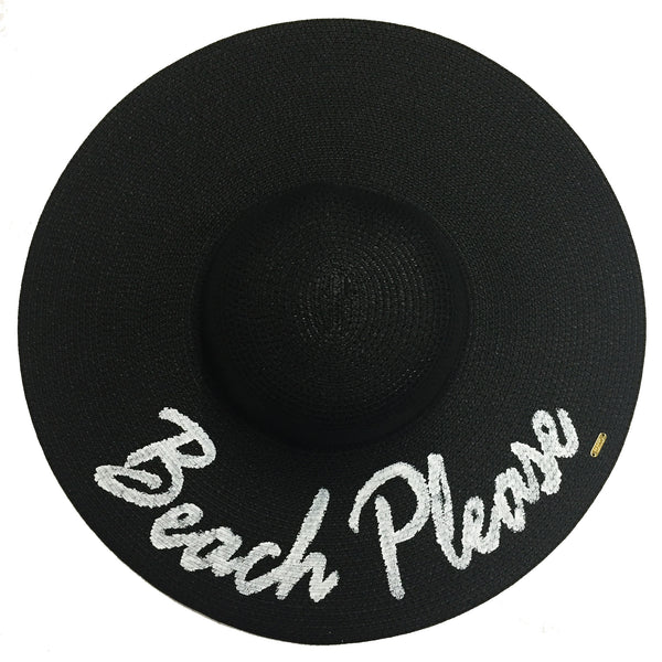 Beach Please Hat - Black | Abaco Beach Co