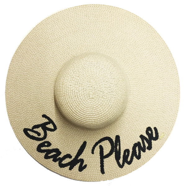 Beach Please Hat - Natural | Abaco Beach Co