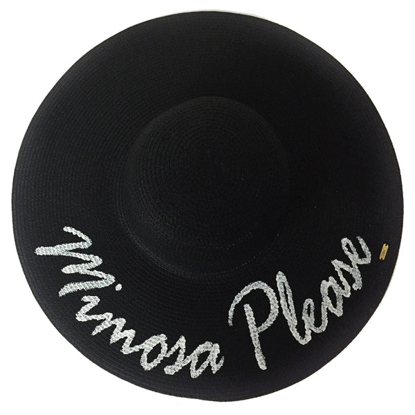 Mimosa Please Hat - Black | Abaco Beach Co