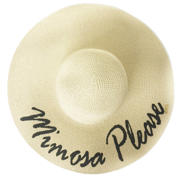 Mimosa Please Hat - Natural | Abaco Beach Co