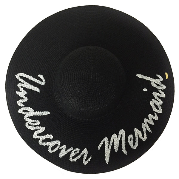 Undercover Mermaid Hat - Black | Abaco Beach Co
